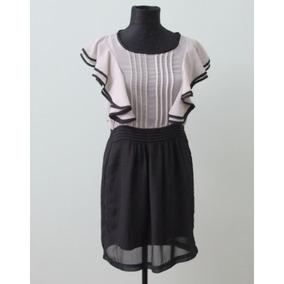 Elegante Vestido Sandaf London Blanco Y Negro - Envios