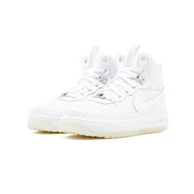 Nike Lunar Force 1 Duckboot Gs Triple White Mayma Sneakers