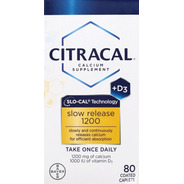 Citracal Calcium Supplement 80 Cápsulas