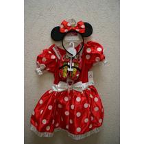 Disfraz Minnie Mimi Rojo 2/3 Zapatos Orejas Disney Original