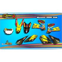 Calcos Motomel Xmm 250 Kit Deportivo Laminado 3m 510mcr.