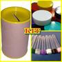 Kit 30 Latinhas Plastica + 30 Tubetes + 30 Cofrinhos