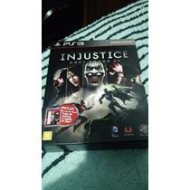 Box Injustice Ps3 + Doom Liga Da Justiça Edition Limited
