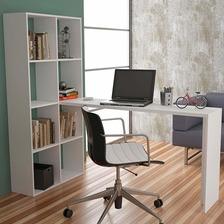 Mesa Para Computador Com Estante Be 38 - Brv Móveis - Branco