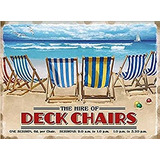 Hire Of Deck Chairs Small Size Metal Sign 8 X 6 (og 2015)