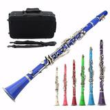 Clarinete Bb 17 Key, Varios Colores.