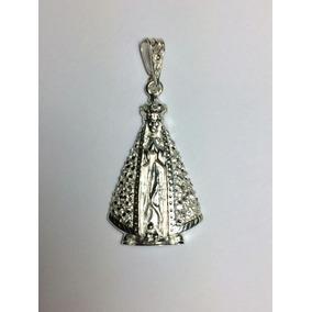 Pingente Nossa Senhora Aparecida Prata Com Zirconia