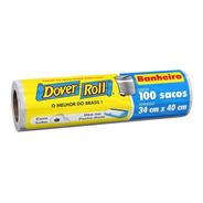 Saco Para Lixo Banheiro Branco Dover Roll 34x40cm Dover