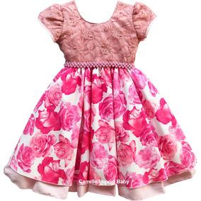 Vestido Festa Infantil Dama De Honra Princesa Realeza 4 A 12