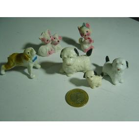 Figuras De Animales Vintage Perros Gatos