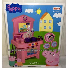 Cozinha Infantil Peppa Pig Fogão Com Acessórios Original