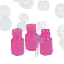 Neon Hexagonal Rosa Botellas Burbuja 0,3 Oz (4 Docenas) - Ma