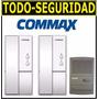 Kit Portero Electrico Commax 2 Telefonos + Fte Embutir Dp101