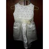 Vestido De Fiesta Para Nina Color Blanco Perla Talla 2