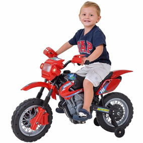 Mini Moto Cross Infantil Elétrica Vermelha 6v Motocross