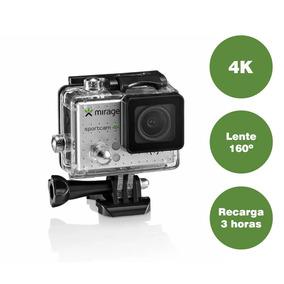 Câmera De Ação Mirage Sport 4k + Cartão 16gb