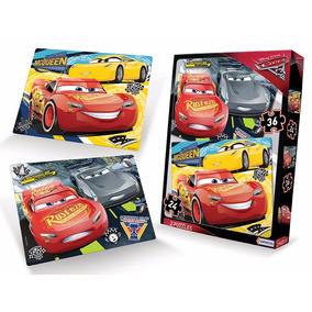 Puzzles Cars 3 2 Unidades 24 Y 36 Piezas 16 X 20 Cm Educando