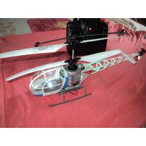 Helicóptero Leds Candide Usado 38cm Com, Remoto E Carregador
