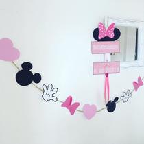 Banderín Figuras Minnie Mouse Cumpleaños Infantiles Cotillon