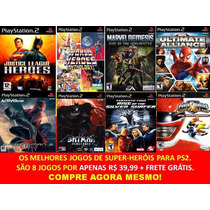 Liga Da Justiça+ Marvel+ Homem Aranha+ Batman (8 Jogos Ps2