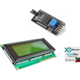 Display Lcd 20x4 2004 Verde-amarillo + Interfaz I2c Arduino