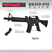 Tippmann Bravo One Egrip Marcadora Paintball Pistola Gotcha