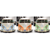 Vw Camper Autobús Arte Tríptico Cartel De La Impresión 36 X