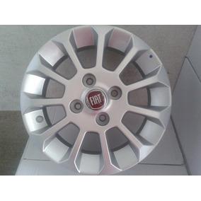 Jogo De Rodas Fiat Uno Top Aro 13 Prata Original -