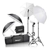 Kit De Iluminación Emart 600w | Estudio Profesional | Nylon