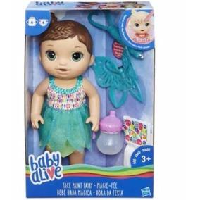 Baby Alive Bebe Hada Magica Pintura Vestido Verde Hasbro