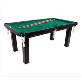 Mesa Sinuca Bilhar Snooker 1,87 X 1,08 Verde C/ Acessorios