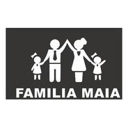 Tapete Capacho Família Personalizado Com Sobrenome Em 70x40