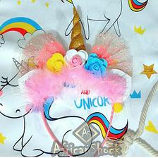 Diadema Unicornio Arcoiris Niña Mujer Piñata Fiesta