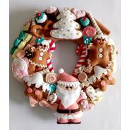 Guirlanda Doce Natal Em Feltro Candy Colors