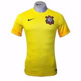Camisa Nike Corinthians Goleiro 2015 / 16 Amarela Original