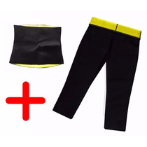 Faja Reductora Combo Cinturilla Fitness+pantalon Ejercicio