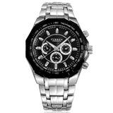 Relógio Luxo Sport Masculino Curren Stainless Steel Aço Inox