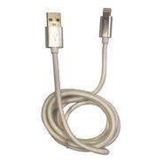 Cable Usb A Lightning 1metro De 2 Amper Mallado, De Tela Resistente. Carga Rápida. Apple iPhone 6,7,8,x,xr,xs - iPad