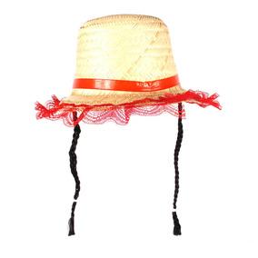 Chapeu Palha Pequeno Feminino - Brinquedos e Hobbies no Mercado ... 4f0d87f0c91