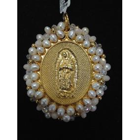 Medalla Chapa Con Perlas Alrededor
