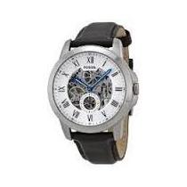 Relógio Fossil Automático Puls. Couro Me3053/0kn + Frete