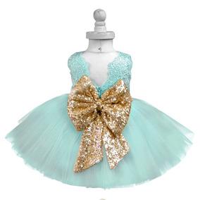 Vestido Para Niña Color Menta Fiesta Tutú Cumpleaños