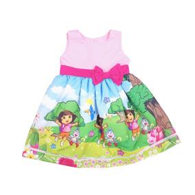 Vestido Infantil Dora Aventureira Tamanhos 8 A 12 Anos