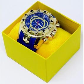 Relógio Dourado Grande Pesado Na Caixa + Fréte Grátis Barato