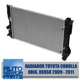 Radiador Toyota Corolla Año 2009 - 2011 Orig. Denso
