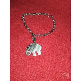 Pulsera Rolo Con Elefante, Acero Quirurgico!!