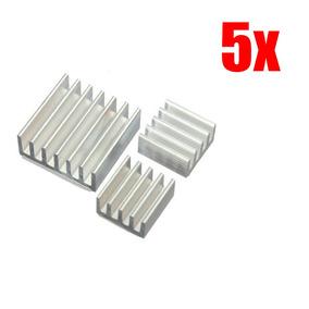 5x Dissipador Calor Raspberry Pi 2 Pi 3 C/ Adesivo Termico