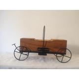 Carroção Modelo Wagon Em Ferro Porta Talheres Peça Artesanal