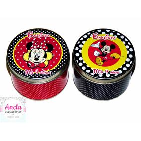 Latas Personalizadas Mickey Y Minnie Disney Mellizos!!