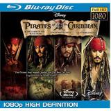 Piratas Del Caribe Colección Bluray 4 Peliculas
